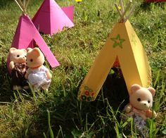 How to make a toy teepee - Crafts on Sea