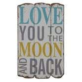 Found it at Joss & Main - To The Moon & Back Wall Decor