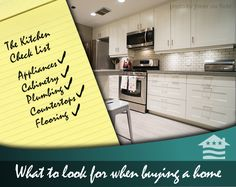 What to Look for When Buying a Home: A Kitchen Check List.