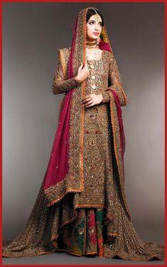 New Pakistani Wedding Sharara Gharara Girls Dresses
