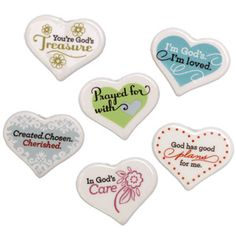 $17 God's Heart Tokens:  I'm God's, I'm loved. 1 John 4:19 Contact me if you are interested in this product!!!  visit www.myblessingsunlimited.net/AngelaSmit or email me at blessingsbyangela@live.com