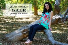 For all you stylish pregnant women! All floral maternity tops, bottoms, and dresses are on sale now at Heritwine Maternity. $5 Flat Rate Shipping and Free Shipping on all orders $75 or more.