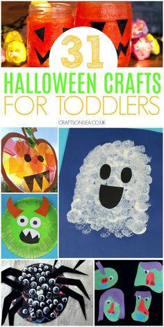 halloween crafts for toddlers preschool Easy and fun Halloween crafts for toddlers with ghost crafts for toddlers, pumpkin crafts for toddlers, spider crafts, monster crafts and more. Theme Halloween, Halloween Crafts For Toddlers, Halloween Activities, Toddler Crafts, Preschool Crafts, Halloween Labels, Spooky Halloween, Vintage Halloween, Halloween Pumpkins
