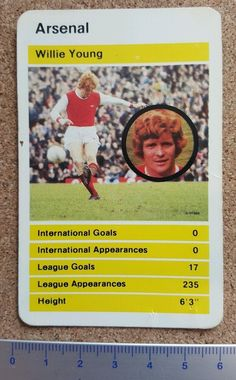 Top #trumps #single card arsenal football club 1970s 80s - #various,  View more on the LINK: http://www.zeppy.io/product/gb/2/162285590689/