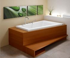 Bora Corner Activ-air/Mass-air/Whirlpool Combo - A modern corner bathtub with a very comfortable curved backrest. all around the bathtub and sometimes even in the backrest. Each bathtub is equipped with 37 to 64 micro-jets, str Corner Soaking Tub, Corner Tub, Corner Space, Bathroom Interior, Modern Bathroom, Small Bathroom, Bathroom Ideas, Bathtub Ideas, Bathroom Inspiration