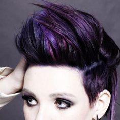 My purple fauxhawk! Hair cut and color done at Toni and Guy!