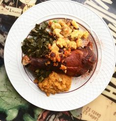 Check out our Thanksgiving dish available all day tomorrow! From 11:30am-9pm we'll be serving this roasted turkey leg, cornbread stuffing, sweet yams, and collard greens for $24. Happy Thanksgiving friends!