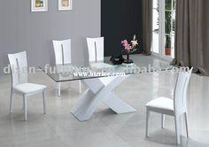 modern glass dining table | Modern Fashion Tempered Glass dining table dinner table tempered glass ...