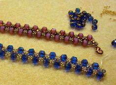 woven beaded bracelet - very easy.~ Seed Bead Tutorials