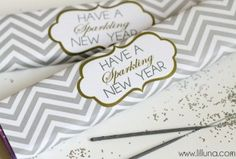 Cute New Years Gift Idea - Have a Sparkling New Year printable on { lilluna.com } #newyears