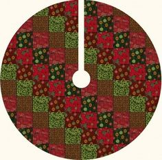 Christmas Tree Skirt. 60 inch diameter (with added ruffle and lace). The added ruffle and lace add to the charm of this traditional tree skirt. REQUIRES INTERMEDIATE SEWING EXPERIENCE. Click below for a FREE Tree Skirt Quilt Pattern.
