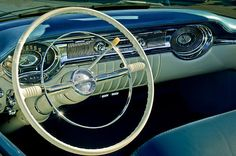 1956 Oldsmobile Starfire 98 Steering Wheel and Dashboard Photograph by Jill Reger - 1956 Oldsmobile Starfire 98 Steering Wheel and Dashboard Fine Art Prints and Posters for Sale