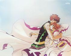 Hermoso coloreado <3 Sakura y Tsubasa :3 <3