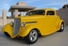 1933 Ford 3 Window Hot Rod http://www.e-carpictures.com/1933-ford-3-window-yellow-coupe/
