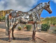 Unusual horse art.
