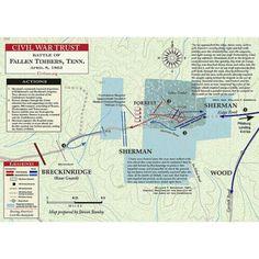 Civil WarTrust Map (Battle of Fallen Timbers, Tennessee).