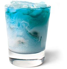 Blue Frost    1 part UV Blue  1 part raspberry sherbet  1 part lemon-lime soda    Serve over ice in a lowball glass.