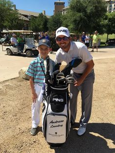 Connor in his Garb gear with Andrew Landry at the 2016 U.S. Open at Oakmont