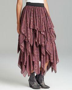 $128 - Free People Skirt - Printed Georgette Tutu | Bloomingdale's