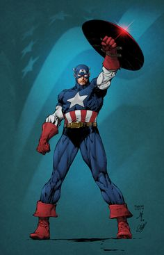 Captain America pencils by David Finch, inks by Jonathan Glapion, colours by Cliff