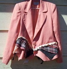 Upcycled Clothing / Upcycled suit jacket / by CuriousOrangeCat, $75.00