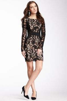 Contrast Panel Lace Dress by Jessica Simpson on @HauteLook