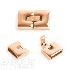We now stock a simply stunning range of Stainless Steel Clasps at Beads Direct. This Rose Gold Plated Stainless Steel Clip Lock Clasp 12x25mm fits 2x14mm Cord. Love this clasp!