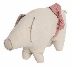 Danish Christmas Pig with Ribbon~