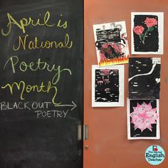 Blackout poetry project for middle school and high school students