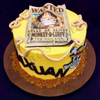 Beautiful Cake Piece Images : one piece luffy cake - Google Search beautiful cake ...