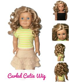 Our Curled Cutie doll wig for American Girl Dolls.