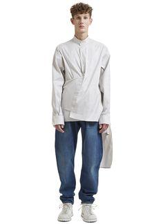 Hed Mayner Mayer Striped Wrap Shirt | LN-CC