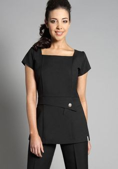 Office uniform designs for women pants and blouse view for White spa uniform uk