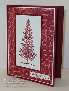Stampin' Up! Lovely as a Tree Stamp Set Word Window Punch Jolly Holiday Designer Series Paper