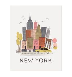NYC Illustrated Art Print
