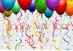 3d Happy new year ballons 2015