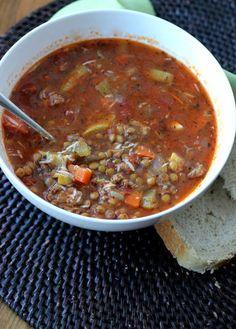 Sausage Lentil Soup   A Hint of Honey
