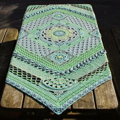 """Blanket I will make next. The pattern is from Dutch CAL """"I Love Yarn"""" 2015."""