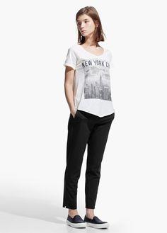 T-shirt mit city-aufdruck   MANGO