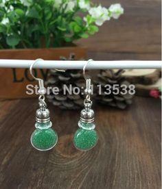 300sets/lot diy clear flat ball Glass Vial Earrings craft kit, Dangle Earrings, Bottle Earrings stoppers cap jumpings ear wires
