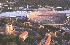 Beautiful Neyland Stadium in Knoxville...right on the river! One of my favorites