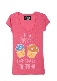 Cupcake Stud Muffin Tee on Wanelo