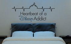 Disney Saying: Heartbeat of a Disney Addict Walt by MyVinylDecor