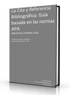 La Cita y Referencia Bibliográfica: Guía basada en las normas APA - PDF  ➸ COMPARTE Y DESCARGA ➸http://www.librearchivo.tk/2016/07/la-cita-y-referencia-bibliografica-guia-basada-en-apa-pdf.html  #tesis #NomaAPA #LibreArchivo
