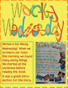 Golden Gang Kindergarten: Dr. Seuss ***{{Do these activities with Wacky Wednesday book on a Wednesday.}}***