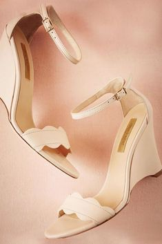 Wedge Wedding Shoes To Walk On Cloud ❤ See more: http://www.weddingforward.com/wedge-wedding-shoes/ #weddings #weddingshoes