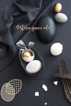 Easter Decoration Gold Grey by Sinnenrausch