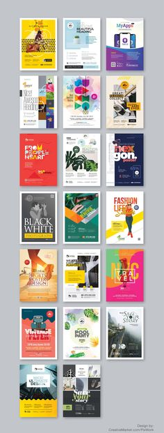 The Poster & Flyer Bundle works perfectly for multipurpose use — Corporate, Creative, Academic, Agency & Entrepreneur. Minimal, clean and modern eye catchy design layout templates. Every template is compatible with Adobe & Microsoft Office Application and is easy to customize. Simply drop your content into the template, save it and enjoy!