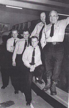 1959. Firemen Engel Rogers Medeiros Sabens and Malzan.