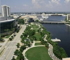 Urban/Waterfront Park, Tampa, Florida    Cotanchobee Fort Brooke Park, Tampa, Florida, aerial.    Designed by Hardeman-Kempton & Associates, Inc.  Tampa, Florida  www.hka-design.com  http://www.flickr.com/photos/hardemankempton/5351457617/